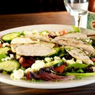 Fresh Gorgonzola salad with flame grilled chicken.