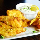 Fresh haddock fish & chips.