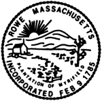 Rowe, MA seal.