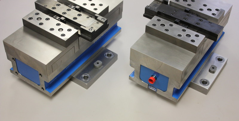Aerospace Tooling Modified vice for specific part holding.