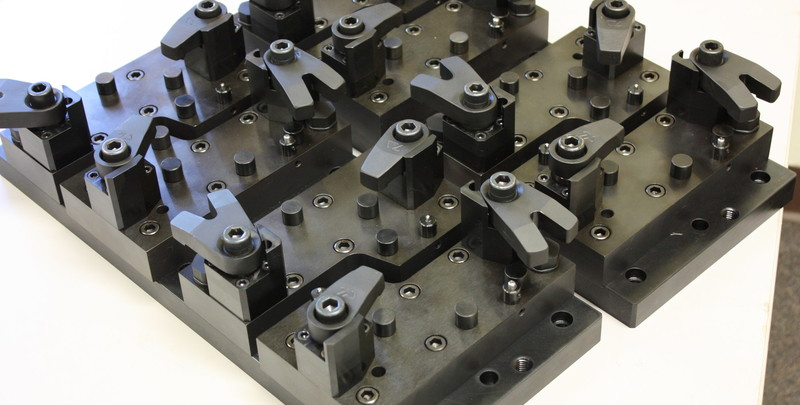 Aerospace Tooling Work holding fixture for 2-axis milling operation.