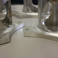 Aluminum Aerospace Tooling component by Lynn Welding, a GTAW approved Welder.