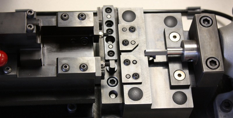 Fixtures and Tooling Precision machined components assembled to work as an insertion fixture.