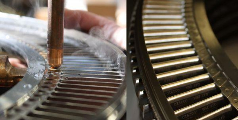 Nadcap Accredited Resistance Welding Vanes on a Stator for a Jet Engine