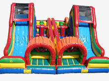 Carnival Course Double Challenge Bounce House Water Slide, Obstacle Courses & Interactive Games - Jacksonville Florida Bounce House Rentals