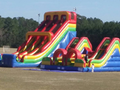 Carnival Course Double Challenge Bounce House Water Slide