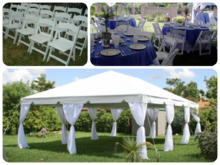 Tent Event Packages, Roo's Tents, Tables, Chairs and more