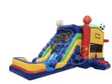 ALL Sports 4-1 Modular Combo Bounce House Hopper  WET or DRY, Roo's Hopper Combos - Jacksonville Florida Bounce House Rentals