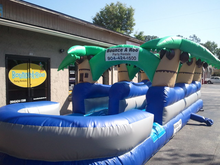 Palm Tree Slip n Slide  30' Bounce House Waterslide WET or DRY, Roo's Wet or Dry Slides - Jacksonville Florida Bounce House Rentals