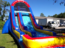 Giant Blue Lagoon  24' Bounce House Waterslide WET or DRY, Roo's Wet or Dry Slides - Jacksonville Florida Bounce House Rentals