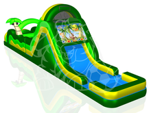 60' Tropical Island Double Lane Obstacle Course Bounce House Waterslide WET or DRY, Obstacle Courses & Interactive Games - Jacksonville Florida Bounce House Rentals