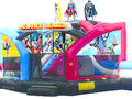 Justice League Double Challenge Bounce House Waterslide WET or DRY