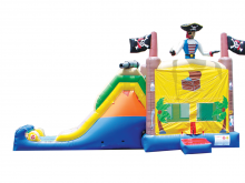 Pirate Treasure 4-1 Combo Bounce House Hopper  WET or DRY, Roo's Hopper Combos - Jacksonville Florida Bounce House Rentals