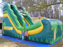 Tropical Slide  18' Bounce House Waterslide WET or DRY, Roo's Wet or Dry Slides - Jacksonville Florida Bounce House Rentals