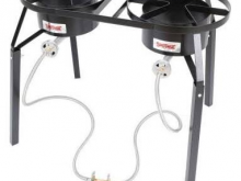 Double Propane Cooker, Roo's Tents, Tables, Chairs and more