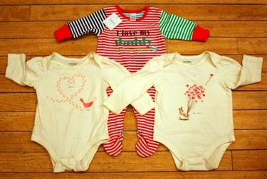 Is baby just chillin' at home on Valentine's?  We have some super cute onesies that showcase the love in a casual way.