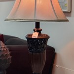 1-30957  Large Lamp (Brown)
