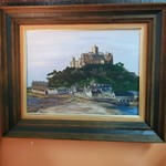 1-31632 Signed Oil Painting Of Castle Scene