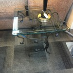 1-32246 Glass and Metal Side Table