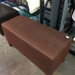 1-32393 Large Orange/Brown Ottoman (42x18)