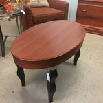 1-31335 Wood Coffee Table w/ Black Legs
