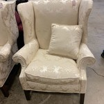 1-33432 White Wingback Chair