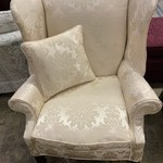 1-33433 White Wingback Chair