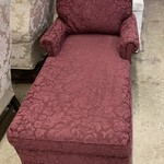 1-33437 Burgundy Upholstered Chaise