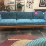 1-33573 Custom Handmade Teal Sofa