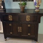 1-33560 Black Asian Cabinet/Buffet