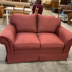 1-33659 Loveseat-Rose Color w/ Gold Accents