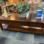 1-33584 Wood Coffee Table w/ Drawers