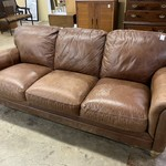 1-33604 Natuzzi Leather Sofa