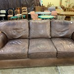 1-33626 ARHAUS Brown Leather Sofa