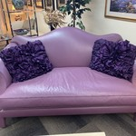 1-33724 Sofa-Donghia-Purple w/ Pillows