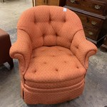 1-33613 Orange Swivel Chair