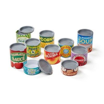 MELISSA AND DOUG #4088 TOY FOOD CANS image.