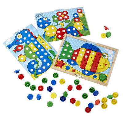MELISSA AND DOUG #4313 SORT & SNAP COLOR MATCH image.