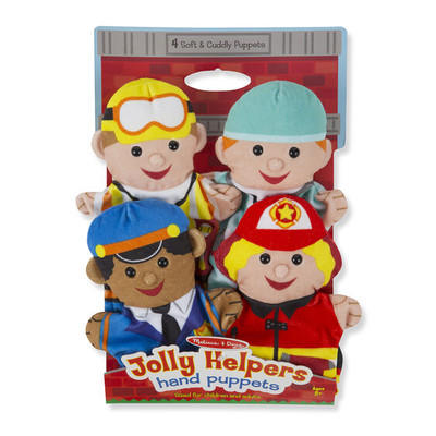 MELISSA AND DOUG #9086 JOLLY HELPERS HAND PUPPETS image.
