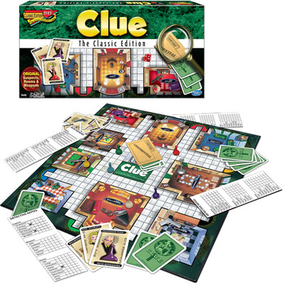 WINNING MOVES GAMES WMV #1137 CLUE THE CLASSIC EDITION image.
