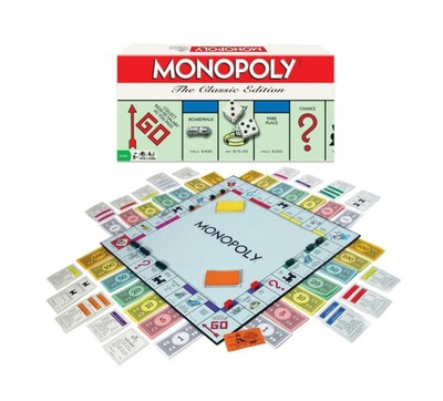 WINNING MOVES MONOPOLY THE 80'S EDITION #WMV1126 image.