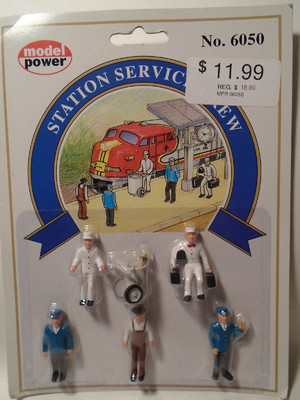 Model Power #6050 Station Service Crew image.