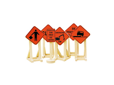 Lionel 6-81064 Construction Zone Signs #2 O 027 MIB 2013 New 6 Signs image.