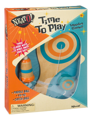 NEATO CLASSICS TOYSMITH #6234 TIME TO PLAY WOODEN GAMES image.