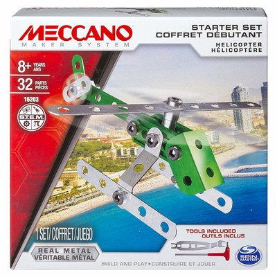 MECCANO TOY#9910  HELICOPTER STARTER SET NEW IN ORIGINAL BOX image.