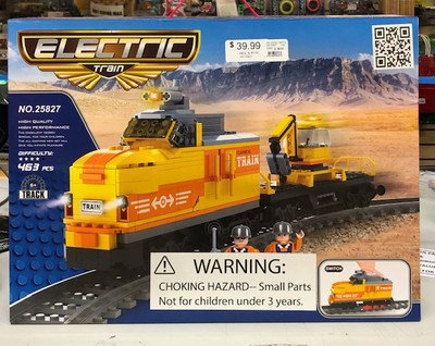 IMEX #25827 ELECTRIC TRAIN BUILDING SET LEGO COMPATIBLE image.
