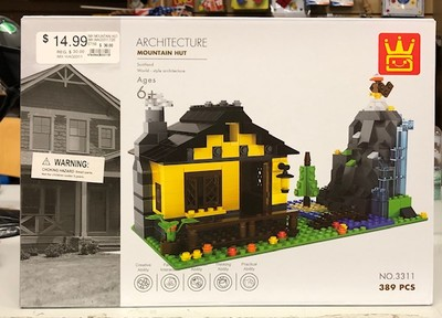 IMEX #3311 ARCHITECTURE MOUNTAIN HUT BUILDING SET LEGO COMPATIBLE image.