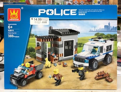 IMEX #52011 POLICE DOG UNIT BUILDING SET LEGO COMPATIBLE image.
