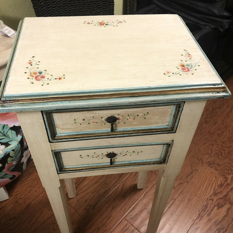 Hand Painted Accent Table.