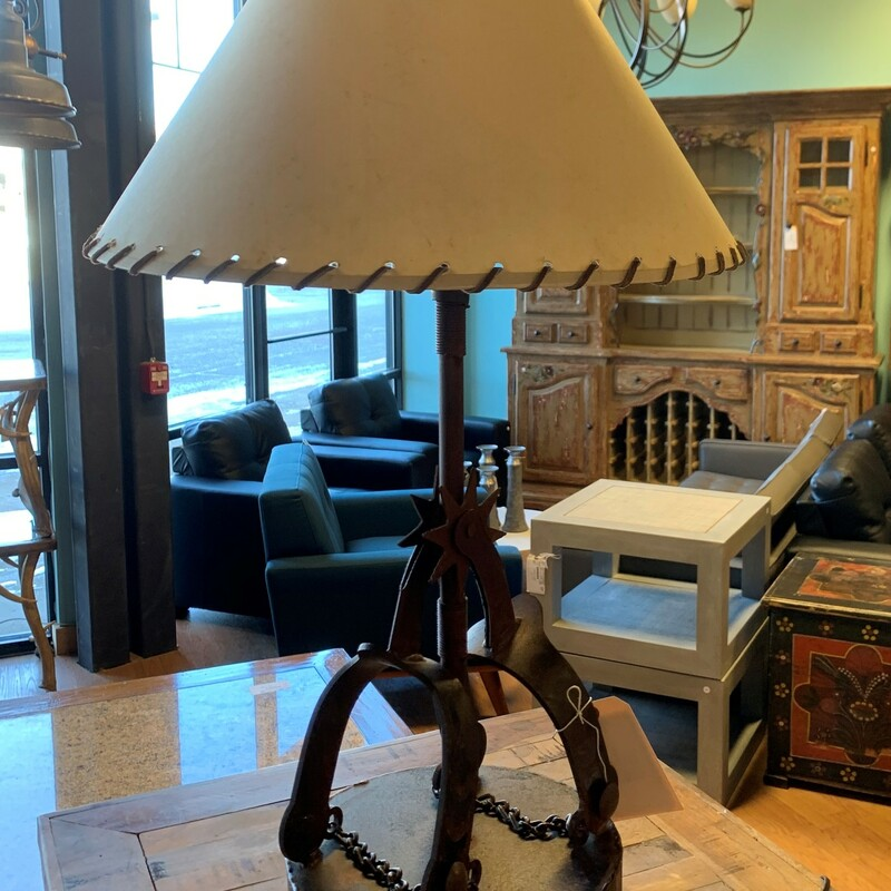 Cowboy Spurs Table Lamp.